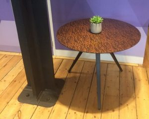 Glass Top Table Featuring Kimorra