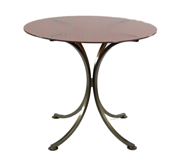 Bennington Metal Table with Kimorra Glass Top