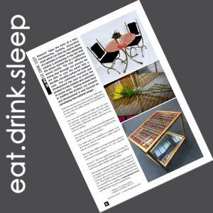 eat. drink. sleep. magazine feature
